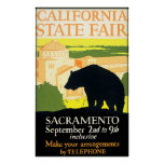 California State Fair Bear Poster