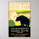 California State Fair Bear Poster