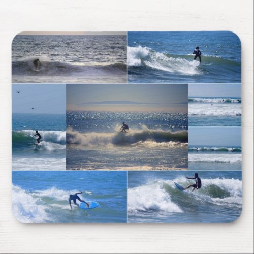 California Surfers Collage Mousepad mousepad