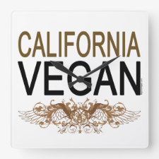 California Vegan Clock