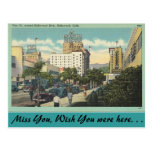 California, Vine Street, Hollywood Postcard