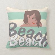 Calling for Beach Fun Throw Pillow