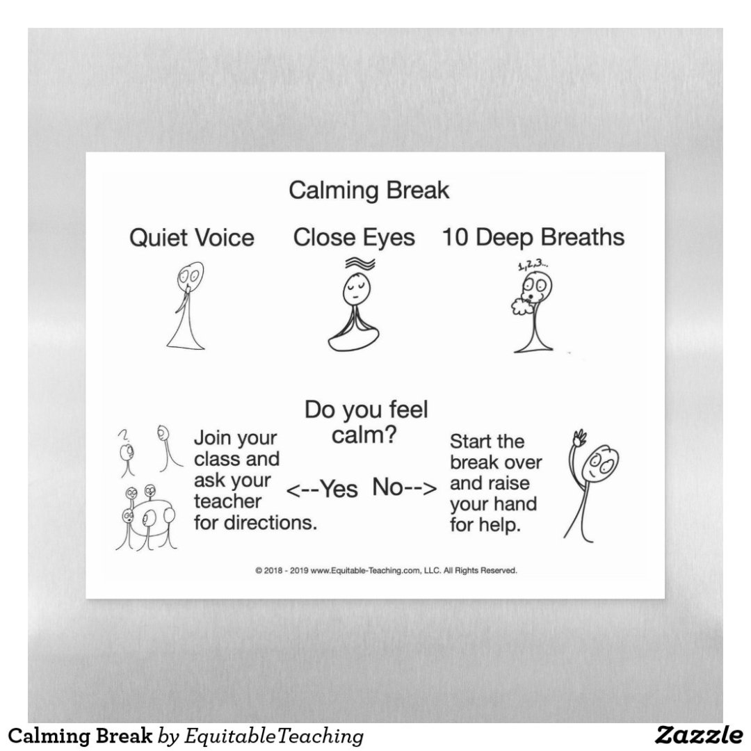 Calming Break Magnetic Dry Erase Sheet