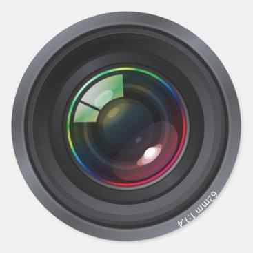 Camera Lens Round Sticker