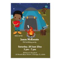 Camping birthday boy card