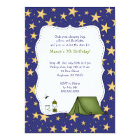 Camping Birthday Party Invite