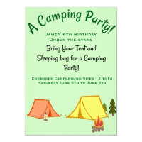 Camping Party Card