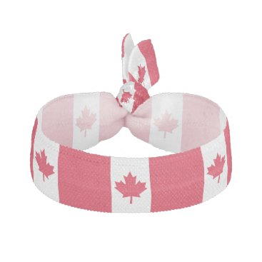 Canadian Flag Maple Leaf Red White Canada Elastic Hair Tie