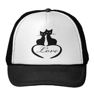 Black Love Cats Hat