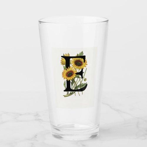 Cape Daisy Monogram E Drinking Glass
