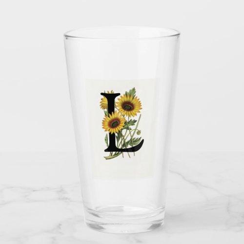Cape Daisy Monogram L Drinking Glass