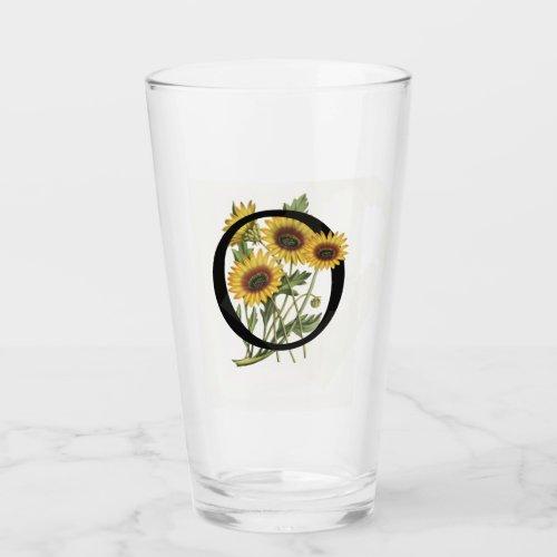 Cape Daisy Monogram O Drinking Glass