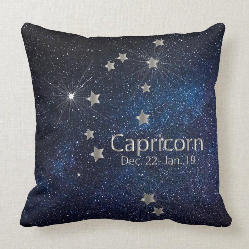 Capricorn - Zodiac Star Sign Throw Pillow