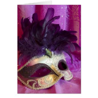 Card - Purple Masquerade Mask card