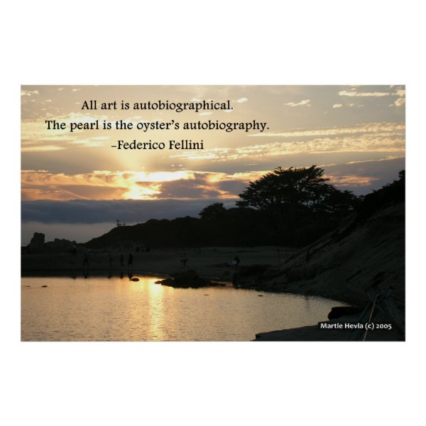 Carmel Sunset Pine - Federico Fellini Poster