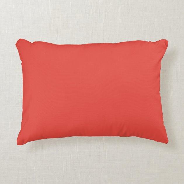 carmine pink salmon pink orangey pink light red accent pillow zazzle com