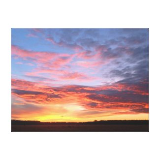 Carolina Sunrise near Rockingham Canvas Print