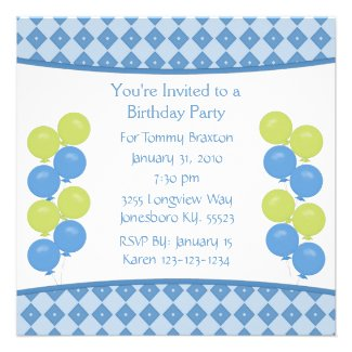Carousel Birthday Party Invitation