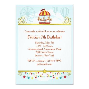 Carousel Fun Invitation