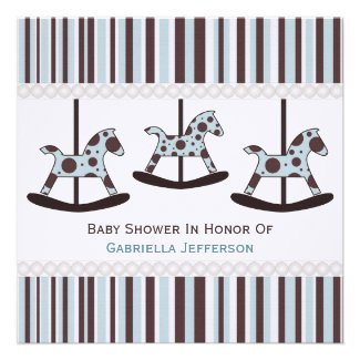 Carousel: Personalized Baby Shower Invitation