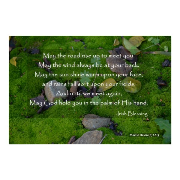 Carpet of Moss - May the Road - Irish Blessing Poster