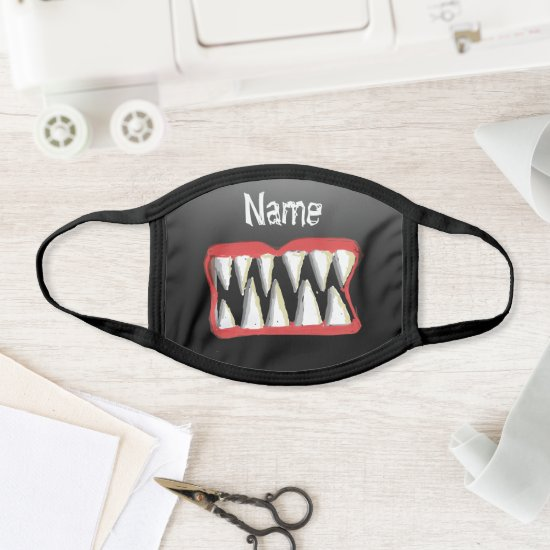 Cartoon Black Monster Teeth Cotton & Poly Facemask Face Mask