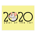 Cartoon Chinese Year of the White Rat Postcard