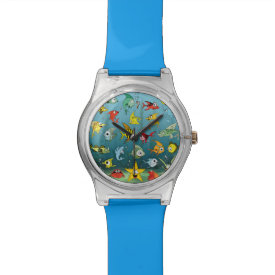 Cartoon Fish Underwater Wristwatch