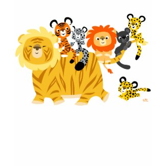 Cartoon Liger and Friends children T-shirt shirt