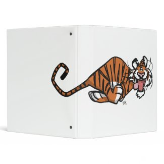 Cartoon Running Tiger Binder binder