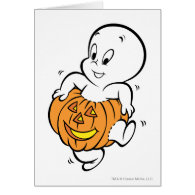 Casper Dancing in Pumpkin Card