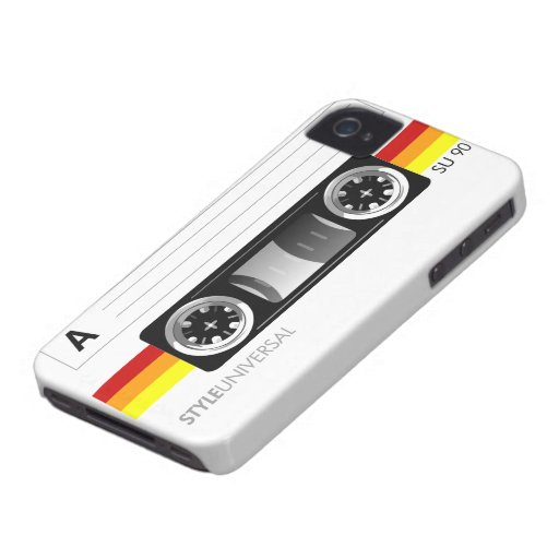 Cassette tape label iPhone 4 case