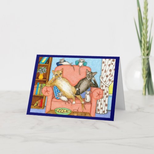 cat 381 Note Card