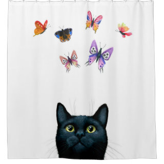 Cat 606 shower curtain