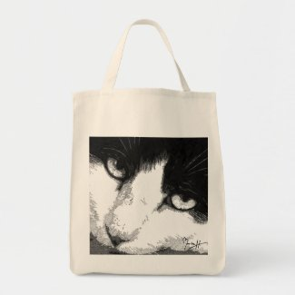 Cat Art Tote Bag bag