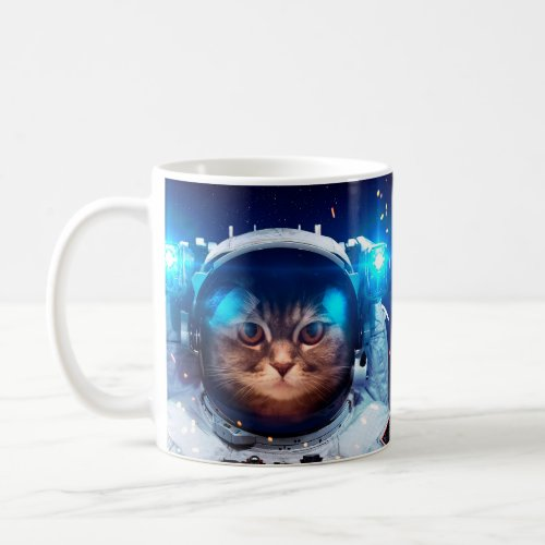 Cat astronaut - cats in space - cat space coffee mug
