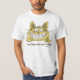 Cat Does Bad Things When You Sleep Tee Shirt