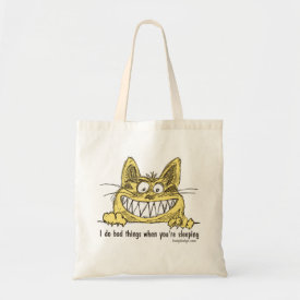 Cat Does Bad Things When You Sleep Tote Bag