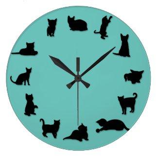 Cat O'Clock Clock