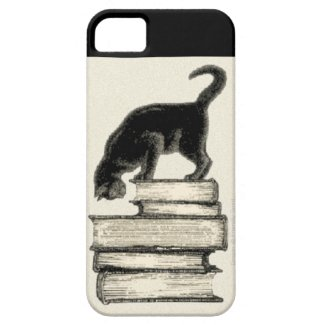 Cat on Books iPhone 5 Cover