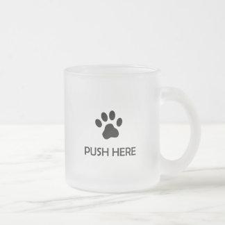Cat Push Here Mug by SmugMugs