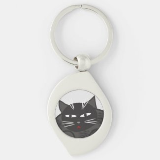 Cartoon Black Cat Keychain