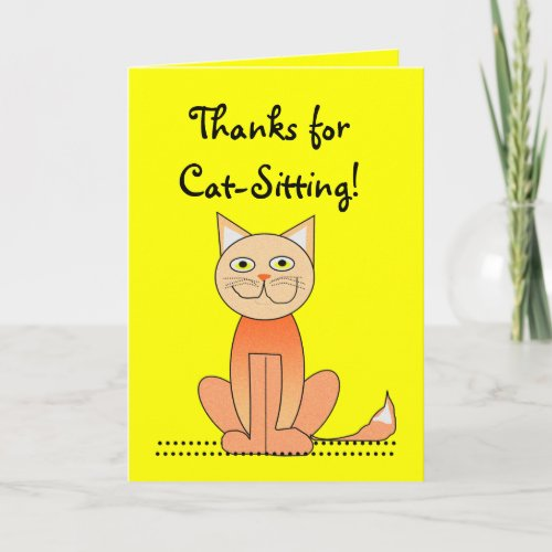 Cat-Sitting Thank you card