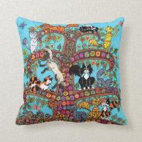 Cat Tree of Life 2 Throw Pillow