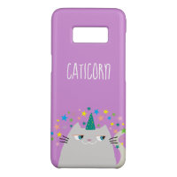 Cat White Unicorn Caticorn Colorful Stars Violet Case-Mate Samsung Galaxy S8 Case