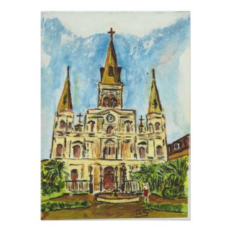 Cathedral, Jackson Square, New Orleans print