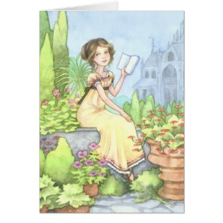 Catherine at Northanger Abbey Jane Austen Card