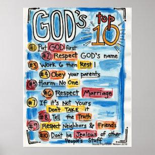 ten commandments posters prints zazzle