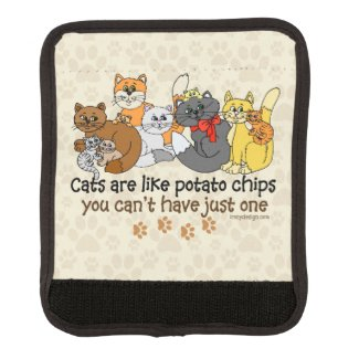 Cats are like potato chips luggage handle wrap