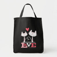 Cats in Love Cute Kitty Valentine Tote Bag